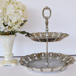 [sold]  Vintage Cake Stand Vintage Silver Plated Cake by JudysJunktion