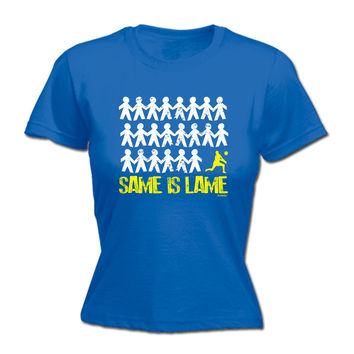 123t USA Women's Same Is Lame Volleyball Funny T-Shirt