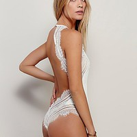 SKIVVIES by For Love & Lemons Womens Isabelle Bodysuit