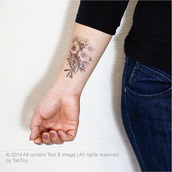 Floral  - Temporary Tattoo T169
