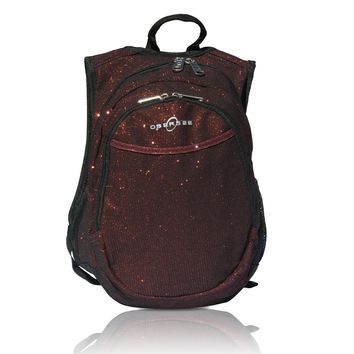 Obersee Pre-School Sparkle Backpack with Integrated Snack Cooler - Red