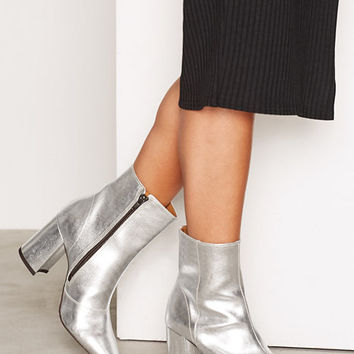 Leather Ankle Boot, Miss Selfridge