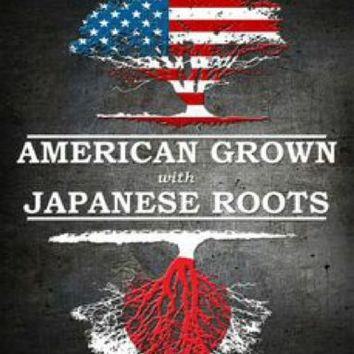 American Grown Japanese Roots Metal  Sign
