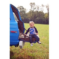 FAN PHOTO Any Number Navy and Grey Raglan with royal blue number Birthday Shirt Monster Truck