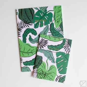 WRAP Tropical Leaves Notebooks