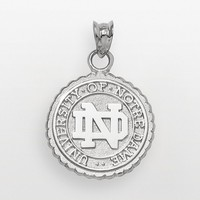 Notre Dame Fighting Irish Sterling Silver School Seal Pendant