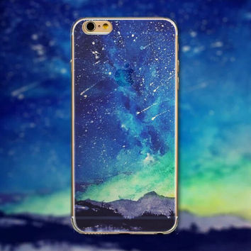 Meteor Shower Tourism Scenery iPhone 5 5S iPhone 6 6S Plus creative case + Nice Gift Box -125