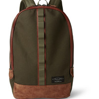 Rag & bone - Derby Cotton-Canvas and Suede Backpack | MR PORTER