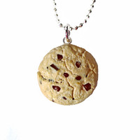 Chocolate Chip Cookie Necklace, Food Jewelry, Gifts for Her, Miniature Food, Jewelry, Cute Necklace, Mini Food, Kawaii, Gift Ideas, Cookie