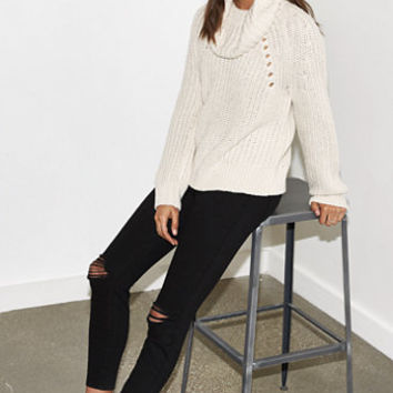 Kendall & Kylie Oversized Cowl Neck Pullover Sweater at PacSun.com