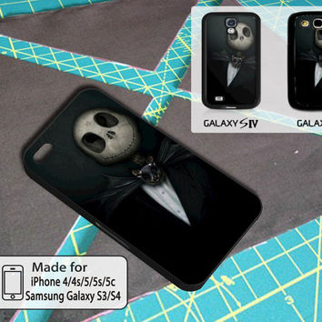 Jack Skellington Before Nightmare Christmas Art Case For Iphone 4/4s/5/5s/5c and Samsung Galaxy S3/S4