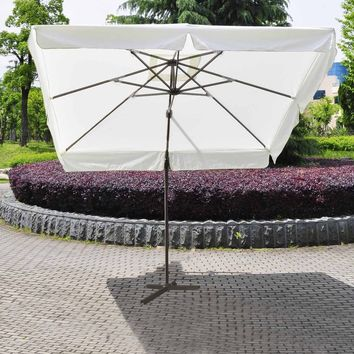 10' Offset Tilt Madrid Patio Umbrella Square Sun Shade 360°Rotatable