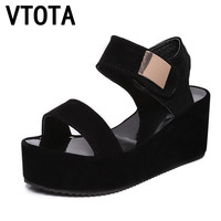 VTOTA 2017 Women Sandals Woman Sandals Gladiator Sandals Women High Heels Open Toe Wedges Platform Casual Women Sandals ShoesR07