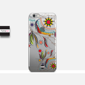 25% OFF iPhone 6s Case, Feather phone case, Boho clear case, Transparent Case, Crystal Clear iPhone 6 case, iPhone 6 plus case