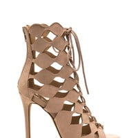 Chic Exposure Caged Cut-Out Heels