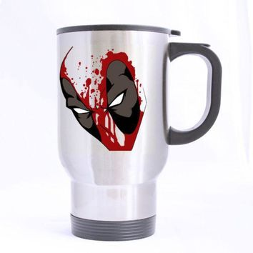 CREYWQA Deadpool Custom Design Travel Mug