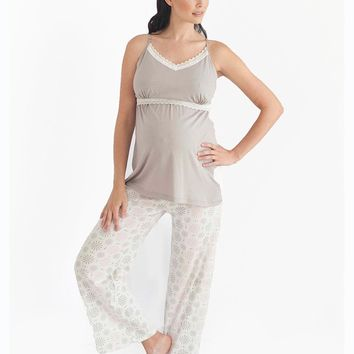 Starlit Nursing Cami & Pant Set-LARGE