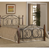 1422-milwaukee-wood-post-bed-king-bed-frame-included - Free Shipping!