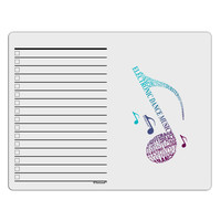 Music Note Typography To Do Shopping List Dry Erase Board