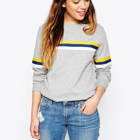 ASOS Sweatshirt With Stripe Insert