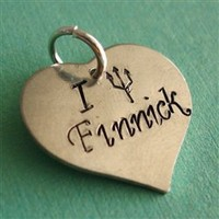 I Heart Finnick Pendant - Hunger Games - Spiffing Jewelry