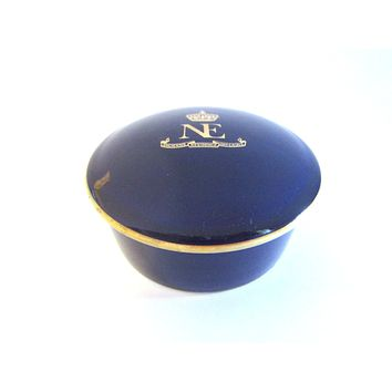 Artoria Limoges France Bleu De Four Hotel Ancienne Residence Imperiale Vanity Container