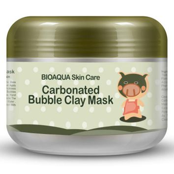 Hot Green Carbonated Bubble Clay Mask 100g Remove Blackhead Acne Purifying Pores Face Care Facial Sleeping Mask Cream