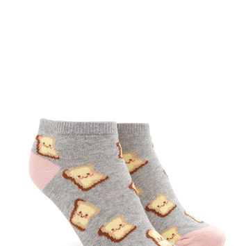 Toast Print Ankle Socks