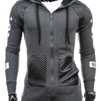 Mens Slim Trendy Zip-Up Hoodie