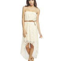 Festival High Low Lace Dress   Wet Seal