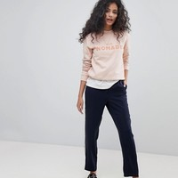 Maison Scotch Club Nomade Crewneck Sweatshirt at asos.com