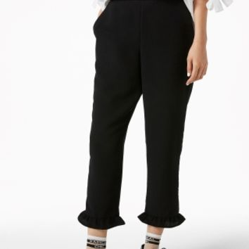 Monki | Trousers | Frill hem trousers