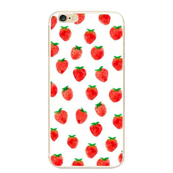 Strawberry Fields Soft  Case for Apple iPhone 6 4.7 Inch Fruit