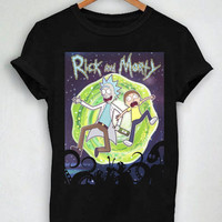 Unisex Premium Tshirt Smash Rick And Morty Design