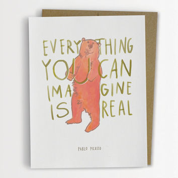 "Picasso ""Everything You Can Imagine Is Real"" Quote Card 168-C"