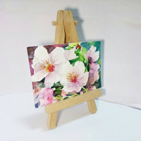 ACEO, Sakura, cherry blossom, spring flower, wallart landscape, original watercolor, not a print, id1320687 painting, collectible, atc,