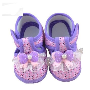 Princess Baby Girl Shoes First Walkers Soft Sole Infant Crib Moccasins Shoes for Babies Sapato Bebe Menina Sneakers Baby Booties