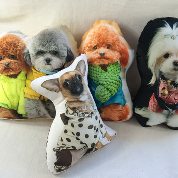 Personalized Dog Picture Pillow (Your Pet Picture On it)