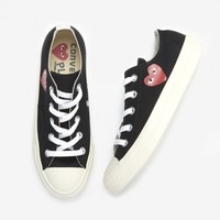 Play Comme Des Garcons Low Top Converse in Black