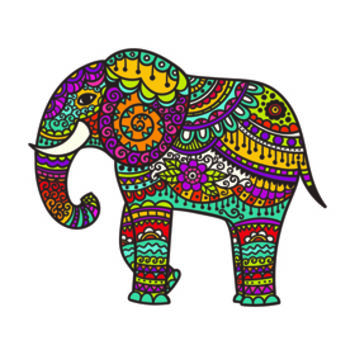 Create My Tattoo | Colorful Indian Elephant Tattoo | Tattapic