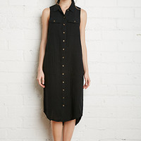 Cotton Utility Shirt Dress