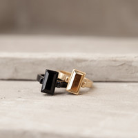 Two Is Better Than One Black And Gold Ring