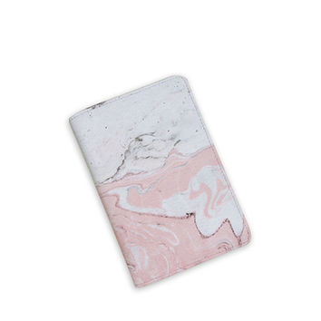 Marble Passport Cover - Passport Holder - Travel Passport - Faux Leather Cover - Wanderlust Passport - by HeartOnMyFingers - APP-PPC-050