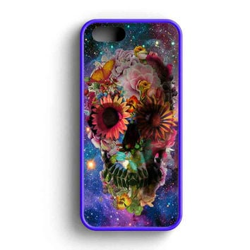 Floral Sugar Skull On Galaxy iPhone 5 Case iPhone 5s Case iPhone 5c Case