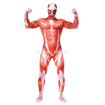 Halloween Attack on Titan Cosplay Costumes Spandex Second Lycra Skin Tight Suit Adult & Children Long Sleeve Full Body Bodysuit