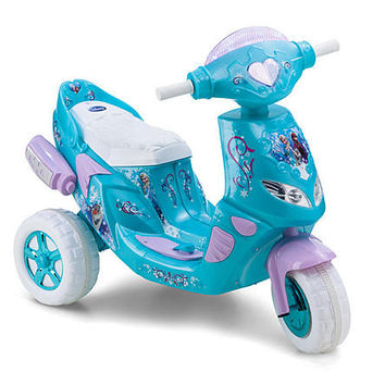 Disney Frozen 6-Volt Toddler ATV Battery-Powered Operated 3 Wheel Wheeled Electric Scooter Tricycle Bike
