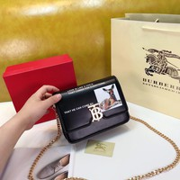 Burberry Women Leather Shoulder Bag Satchel Tote Bag Handbag Shopping Leather Tote Crossbody Satchel Shouder Bag