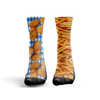 Custom Chicken Nuggets and Fries Socks