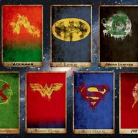 All 7 Justice League Prints   redditgifts