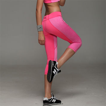 Hot fitness Women Yoga Pants  Sport  Fitness Night  Running Sportswear Tights Quick Drying Compression Trousers Gym Slim Legging